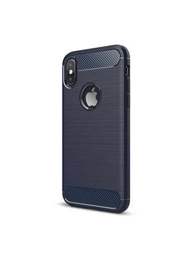 Microsonic iPhone XS (5.8'') Kılıf Room Silikon  Lacivert